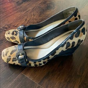 Bandolino Fabric Leopard Print Wedge